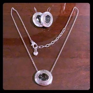 Brighton Smokey Crystal Necklace and Earring Set